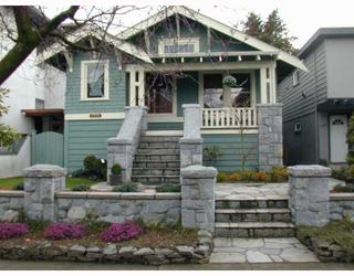 Photo 1: 1335 CYPRESS Street in Vancouver: Kitsilano House for sale (Vancouver West)  : MLS®# V758976