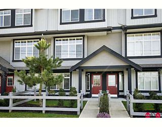 "Photo 1: 42 18839 69TH Avenue in Surrey: Clayton Townhouse for sale in ""Starpoint II"" (Cloverdale)  : MLS®# F2907067"