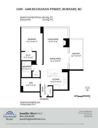 "Photo 38: 1405 4400 BUCHANAN Street in Burnaby: Brentwood Park Condo for sale in ""MOTIF"" (Burnaby North)  : MLS®# R2517808"