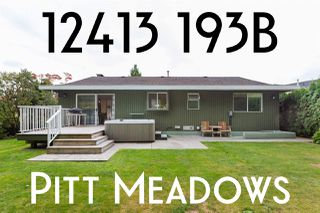 Photo 1: 12413 193B STREET in Pitt Meadows: Mid Meadows House for sale : MLS®# R2406062