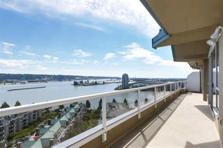 """Main Photo: PH2003 1235 QUAYSIDE Drive in New Westminster: Quay Condo for sale in """"RIVIERA"""" : MLS®# R2495366"""