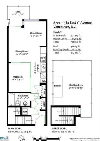 Photo 20: 704 384 E 1ST Avenue in Vancouver: Mount Pleasant VE Condo for sale (Vancouver East)  : MLS®# R2322498