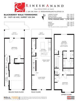 "Photo 23: 26 14271 60 Avenue in Surrey: Sullivan Station Townhouse for sale in ""BLACKBERRY WALK"" : MLS®# R2455465"
