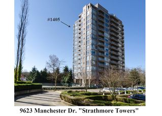 "Photo 1: 1405 9623 MANCHESTER Drive in Burnaby: Cariboo Condo for sale in ""STRATHMORE TOWERS"" (Burnaby North)  : MLS®# V1053890"