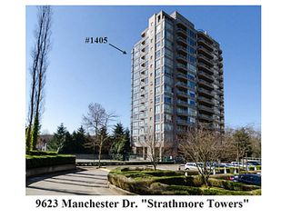 """Photo 1: 1405 9623 MANCHESTER Drive in Burnaby: Cariboo Condo for sale in """"STRATHMORE TOWERS"""" (Burnaby North)  : MLS®# V1053890"""