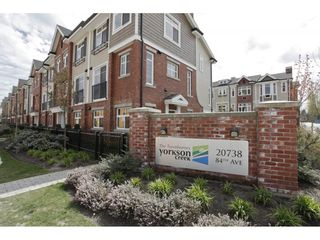"Photo 1: 5 20738 84 Avenue in Langley: Willoughby Heights Townhouse for sale in ""YORKSON CREEK"" : MLS®# R2328190"