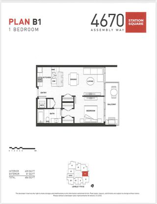"""Photo 15: 4709 4670 ASSEMBLY Way in Burnaby: Metrotown Condo for sale in """"STATION SQUARE 2"""" (Burnaby South)  : MLS®# R2336206"""