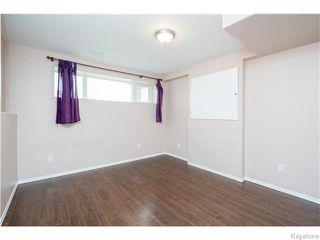 Photo 16: 27 Goldfinch Way in WINNIPEG: Fort Garry / Whyte Ridge / St Norbert Residential for sale (South Winnipeg)  : MLS®# 1522022