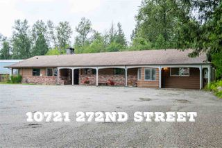 Photo 1: 10721 272 Street in Maple Ridge: Whonnock House for sale : MLS®# R2475987