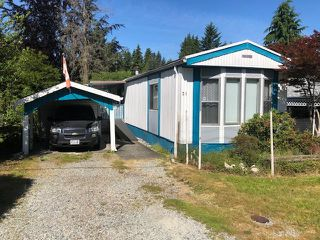 "Main Photo: 31 12868 229 Street in Maple Ridge: East Central Manufactured Home for sale in ""ALOUETTE SENIORS MOBILE HOME PARK"" : MLS®# R2381386"