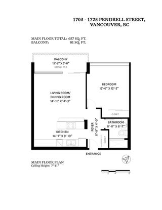 """Photo 22: 1703 1725 PENDRELL Street in Vancouver: West End VW Condo for sale in """"STRATFORD PLACE"""" (Vancouver West)  : MLS®# R2503970"""