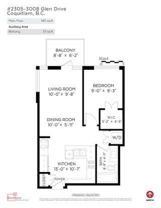 Photo 20: 2305 3008 GLEN Drive in Coquitlam: North Coquitlam Condo for sale : MLS®# R2169107