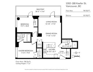 Photo 20: 1002 188 KEEFER Street in Vancouver: Downtown VE Condo for sale (Vancouver East)  : MLS®# R2427148