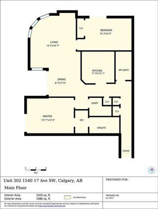 Photo 19: 302 1540 17 Avenue SW in Calgary: Sunalta Condo for sale : MLS®# C4128714