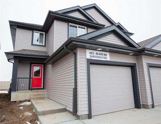 Main Photo: 423 40 Avenue in Edmonton: Zone 30 House Half Duplex for sale : MLS®# E4175694