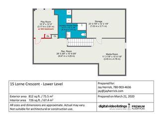 Photo 34: 15 LORNE Crescent: St. Albert House for sale : MLS®# E4192213