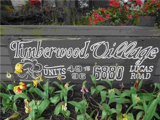 Photo 1: # 67 6880 LUCAS RD in Richmond: Woodwards Condo for sale : MLS®# V1007619
