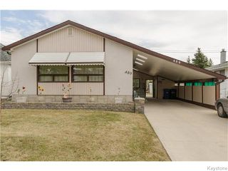 Photo 1: 489 Daer Boulevard in Winnipeg: Westwood / Crestview Residential for sale (West Winnipeg)  : MLS®# 1609886