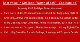 Photo 3: 1917 TRAFALGAR Street in Vancouver: Kitsilano House for sale (Vancouver West)  : MLS®# R2331856