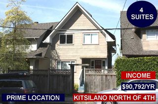 Photo 1: 1917 TRAFALGAR Street in Vancouver: Kitsilano House for sale (Vancouver West)  : MLS®# R2331856