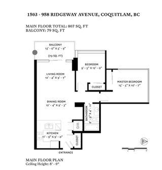 Photo 20: 1503 958 RIDGEWAY Avenue in Coquitlam: Central Coquitlam Condo for sale : MLS®# R2434308