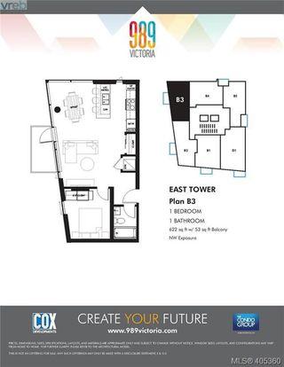 Photo 7: 803E 989 Johnson Street in VICTORIA: Vi Downtown Condo Apartment for sale (Victoria)  : MLS®# 405360