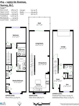 "Photo 20: 14 14955 60 Avenue in Surrey: Sullivan Station Townhouse for sale in ""Cambridge Park"" : MLS®# R2348750"