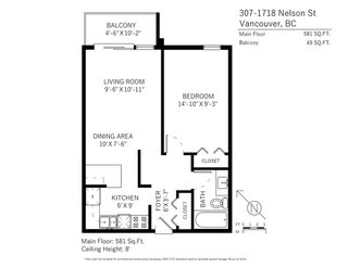 """Photo 17: 307 1718 NELSON Street in Vancouver: West End VW Condo for sale in """"REGENCY TERRACE"""" (Vancouver West)  : MLS®# R2360835"""