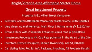 Photo 3: 4331 MILLER Street in Vancouver: Victoria VE House for sale (Vancouver East)  : MLS®# R2382936