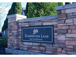 "Photo 1: 8 1268 RIVERSIDE Drive in Port Coquitlam: Riverwood Townhouse for sale in ""SOMERSTONE LANE"" : MLS®# V1058093"