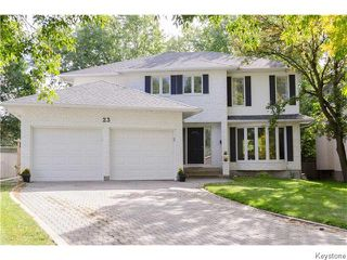 Photo 1: 23 Haddington Bay in Winnipeg: Charleswood Residential for sale (South Winnipeg)  : MLS®# 1609114