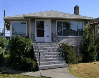 Photo 1: 3015 East 26th Avenue in Vancouver: Home for sale : MLS®# V605200