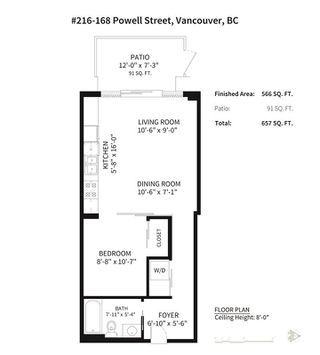 Photo 20: 216 168 POWELL Street in Vancouver: Downtown VE Condo for sale (Vancouver East)  : MLS®# R2270800