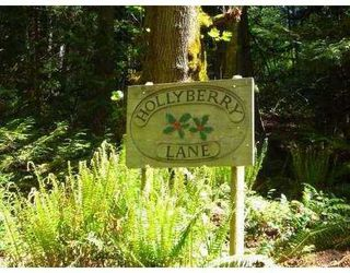 Photo 1: 96 HOLLYBERRY Lane in Hollyberry Lane: House  Land for sale : MLS®# V768475