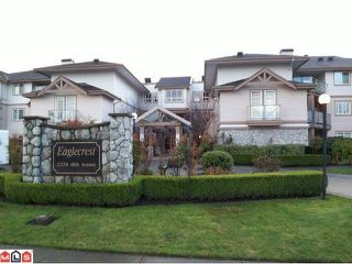 """Photo 1: 122 22150 48TH Avenue in Langley: Murrayville Condo for sale in """"EAGLECREST"""" : MLS®# F1126874"""