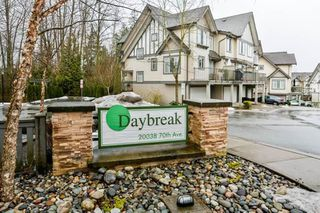 "Photo 1: 78 20038 70 Avenue in Langley: Willoughby Heights Townhouse for sale in ""Daybreak"" : MLS®# R2313306"