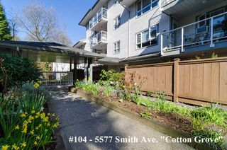 "Photo 1: 104 5577 SMITH Avenue in Burnaby: Central Park BS Condo for sale in ""Cotton Grove in Garden Village"" (Burnaby South)  : MLS®# V1055670"
