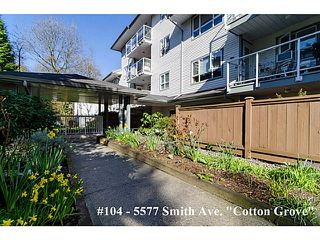 """Photo 1: 104 5577 SMITH Avenue in Burnaby: Central Park BS Condo for sale in """"Cotton Grove in Garden Village"""" (Burnaby South)  : MLS®# V1055670"""