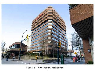 "Photo 1: 214 1177 HORNBY Street in Vancouver: Downtown VW Condo for sale in ""LONDON PLACE"" (Vancouver West)  : MLS®# V1062008"