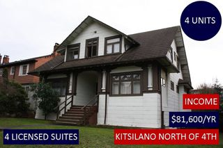 Photo 1: 2526 W 3RD Avenue in Vancouver: Kitsilano House for sale (Vancouver West)  : MLS®# R2236312