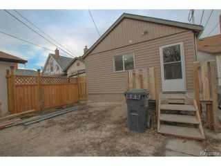 Photo 18: 1152 Garfield Street in WINNIPEG: West End / Wolseley Residential for sale (West Winnipeg)  : MLS®# 1408352
