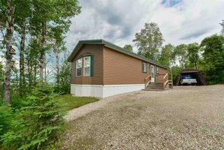 Photo 1: 4428 LAKESHORE Road: Rural Parkland County Manufactured Home for sale : MLS®# E4120445