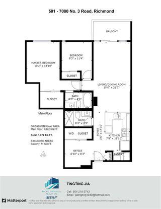 """Photo 16: 501 7080 NO. 3 Road in Richmond: Brighouse South Condo for sale in """"CENTRO"""" : MLS®# R2508229"""
