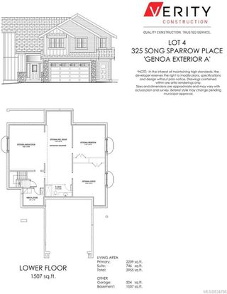 Photo 2: 325 Song Sparrow Pl in Colwood: Co Royal Bay Single Family Detached for sale : MLS®# 834786