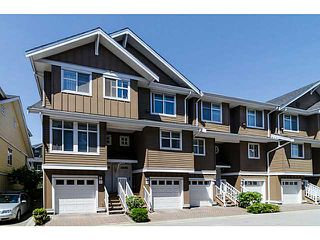 "Photo 1: 38 935 EWEN Avenue in New Westminster: Queensborough Townhouse for sale in ""COOPER'S LANDING"" : MLS®# V1063837"