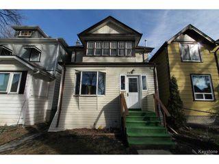 Photo 1: 757 Ashburn Street in WINNIPEG: West End / Wolseley Residential for sale (West Winnipeg)  : MLS®# 1504084