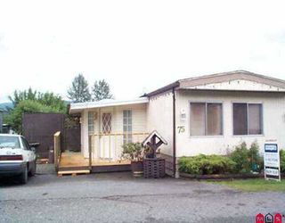 "Main Photo: 75 10221 WILSON ST in Mission: Mission-West Manufactured Home for sale in ""TRIPLE CREEK ESTATES"" : MLS®# F2523424"