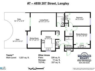 Photo 17: 7 4850 207TH Street in Langley: Langley City Townhouse for sale : MLS®# F1324231