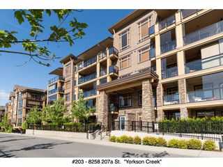 "Photo 1: 203 8258 207A Street in Langley: Willoughby Heights Condo for sale in ""YORKSON CREEK"" : MLS®# R2065419"