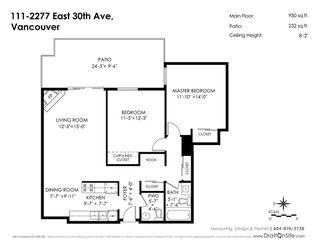 "Photo 20: 111 2277 E 30TH Avenue in Vancouver: Victoria VE Condo for sale in ""TWIN COURT"" (Vancouver East)  : MLS®# R2239312"